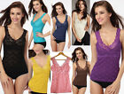 Sexy Women's Slim Fit Lace Hollow-Out Camisole Sleeveless Vest Tops Casual S M