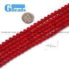 "G-Beads 6mm red /pink coin coral gemstone beads strand 15"" Jewelry making"