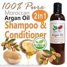 earthbody ARGAN OIL 2 IN 1 SHAMPOO & CONDITIONER ~ 100% PURE NATURAL ORGANIC