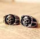 1Pcs Vintage Gothic Skull Skeleton Hand Rings Punk Style Claw Womens Mens Rings