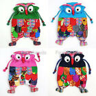 Ethnic Kids HADEMADE OWL Flax Shoulder Backpack Schoolbag Preschool Children Bag