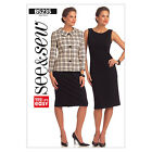 Butterick 5235 OOP Sewing Pattern to MAKE Easy Dress & Fitted Jacket with Collar