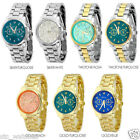 New Geneva Metal Bracelet Globe Dial Boyfriend Style Women's Watch - 7 Colors