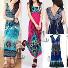 Boho Sexy Deep V-Neck Sleeveless Party Beach Long Dress/Bikini Cover Up dr016