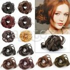 HOT Synthetic Black Brown Blond Pony Tail Extension Hairpiece Hair Bun Scrunchie