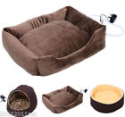 NEW Pet Dog Cat Heated Bed Safe Electric Warmer Plush Pad 3 Models Pet Supply