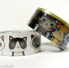 Cute Illust Decorative Roll Washi Tape Ver.1 Scrapbooking Craft Gift Wrapping
