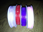 """New Organza  Satin Edge Floral/Craft Ribbon 5/8"""" Assorted Colors 25 yards"""