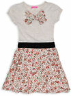 Girls Dress Summer Party Orange Floral Short Sleeve Kids New Age 2 3 4 5 Years