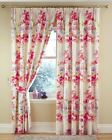 ARIEL PRINTED WATERCOLOUR FLORAL FLOWERS FULLY LINED TAPE TOP CURTAINS