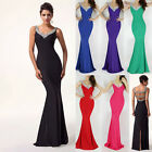 2014Super Sexy Long Mermaid Bridesmaid Evening Formal Party Ball Gown Prom Dress