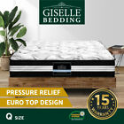 KING Mattress Bed Size Euro Top 5 Zone Pocket Spring Density Latex Foam 30cm