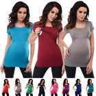Comfortable Nursing Short Sleeved Scoop Neck Top Tunic Breastfeeding 7020
