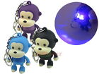 Monkey Animal LED Light with Sound Key Chain Ring