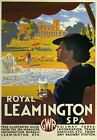 TR91 Vintage Royal Leamington Spa GWR Railway Travel Poster Re-Print A2/A3/A4