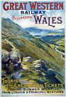 TR63 Vintage UK Wales Welsh GWR Great Western Railway Travel Poster A1/A2/A3/A4