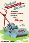 AD97 Vintage 1950's Lawn Mower Advertisment Poster Re-Print A3/A4