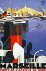 TW67 Vintage 1930 Marseille Classic French Travel Poster Broders A1/A2/A3/A4