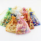12/ 25/ 50/100 Rose Organza Bags Jewellery Gift Pouch Wedding Favour 7x9cm