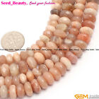 "Rondelle sunstone gemstone jewelry making loose beads 15"" 5x8mm 6x10mm pick"