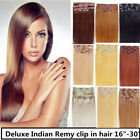 USA STOCK !Full Head 30 inch Indian Remy Human Hair Clip In Extensions 8pcs&180g
