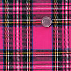 SYNTHETIC ACRYLIC CLOTH DRESS SKIRT FABRIC RETRO DANDY SCOTT TARTAN CHECK PLAID