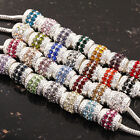 Wholesale Pretty Multi-color Crystal Drum Findings Beads Fit Charms Bracelet