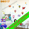 Wall Decal Sticker Nursery Baby Kids child room Deco Hot air Balloon Plane B0017