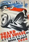 AD89 Vintage 1934 Swiss Grand Prix Motor Racing Advertisment Poster A3/A4