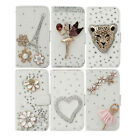 New Bling Leather Stand Case For iPhone 4 5 Galaxy S3 i9300 i9500 N7100 Note3