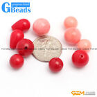 8mm 10mm 12mm round half drilling coral bead 10 pcs DIY jewelry making 3 colors