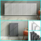Modern Horizontal Designer Radiators Oval Column Bathroom Heaters Black & White