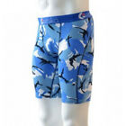 Ethika Staple Mens Long Boxer Briefs Camo Blue