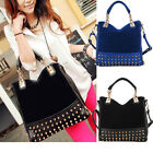 Korean Women Rivet Tote Shoulder Cross Body Women Handbag Shopping Bag