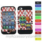 Owl Basketball Chevron Hybrid Rugged Impact Phone Case Cover For iPhone 4 4S