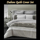 DALTON Stone Brown - Flocking Quilt Cover Set - SINGLE DOUBLE QUEEN KING