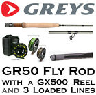 GREYS GR50 Fly Fishing Rod with GX500 Reel & 3 Loaded Lines (TOTAL RRP to £269)