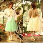 Lace Bubble Long Skirt Women Princes  layered Tulle Dress Tutu Bouffant Skirt