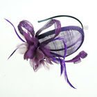 Flower Embellished Sinamay Fascinator Formal Headpiece Hat Race Prom Ascot Party