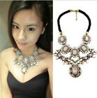 Exquisite luxurious Occident Style big Gem Crystal multilayer Necklace Earring