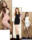 Hot women fashion sweet Elegant Dovetail Sexy Lace Stitching Package hip Dress
