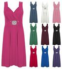 Womens Ladies Stretch Cross Over Wrap Buckle Tie Back Cocktail Mini Party Dress