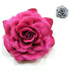 """Handmade"" Large Fabric Rose Flower Brooch Pin 5 1/2 inch Choose Color cda4"