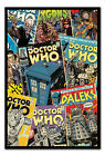 Framed Doctor Who Comic Montage Poster Ready To Hang - Choice Of Frame Colours