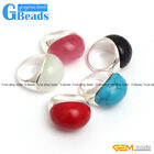 20x25mm oval beads tibetan silver ring size fashion jewelry 7 materials select