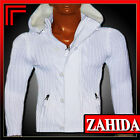 Jumper Knit White Black Knitted Cardigan Men's Hoodie Warm New
