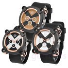 Army Military Style X Code Quartz Wrist Sport Watch Rubber Band Mens Boys Gift