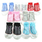 1 Pair 0-6 Months 7 Colors New Cute Baby Boy Cotton Anti-slip Soft Shoe Socks