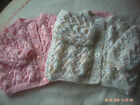 Hand Knitted Baby Lacy Cardigan/Coat Size 0-3 Months