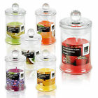 20 Hour Large Designer Style Scented Candle In Glass Jar With Lid Long Burn Time